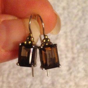 Avon Smokey Topaz Earrings